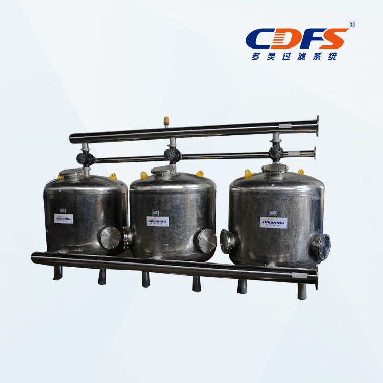 Stainless steel three vessels sand media  filter